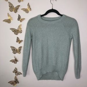 🦋🌙 MOSSIMO   Light Blue w/Silver Accents Sweater